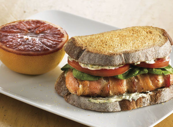 Salmon BLT and Broiled Grapefruit