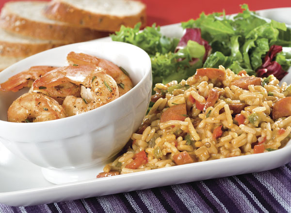 "Easy ""Barbecue"" Shrimp with Jambalaya Rice"