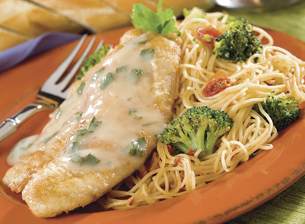 Tilapia With Lemon Butter Sauce And Angel Hair Fresca Publix Recipes