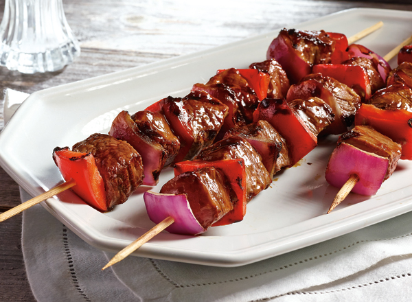 Barbecue Shoulder Tender Kabobs