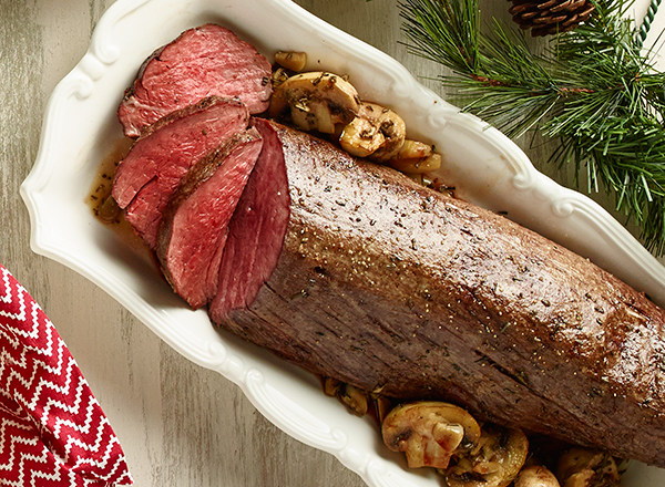 Beef Tenderloin with Red Wine-Mushroom Sauce