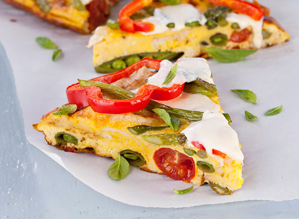 English Muffin and Asparagus Frittata