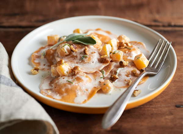 Ravioli with Brown Butter Sage Sauce