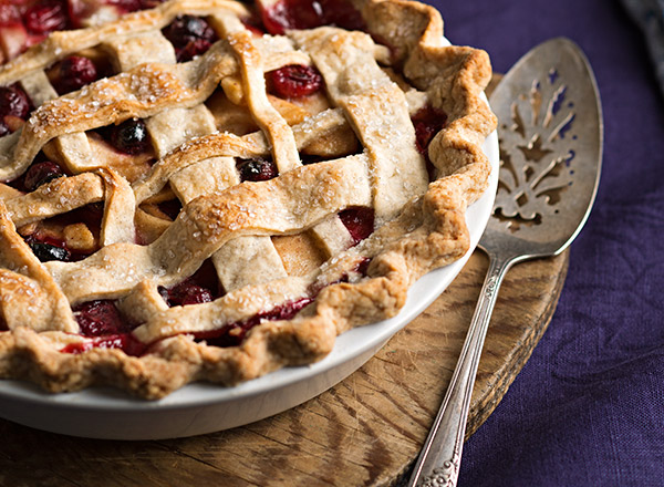Cranberry-Pear Pie with Vanilla Bean Crust
