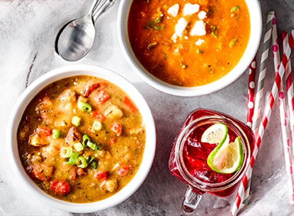 Hydrating Soups and Fruity Refresher