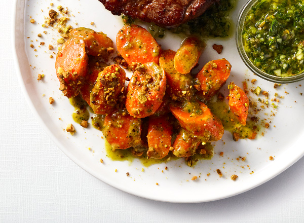 Carrots with Pistachio-Herb Butter