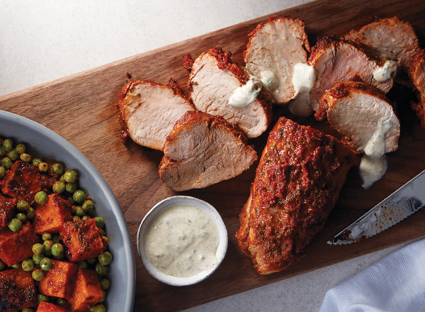 One-Pan Harissa Pork with Sweet Potatoes